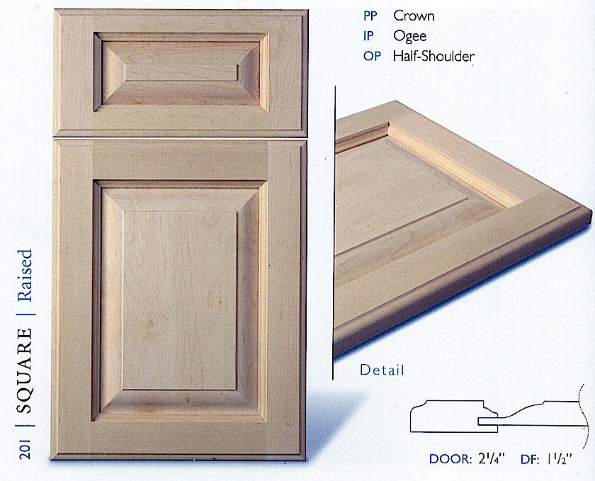 200 series kitchen cabinet door profiles