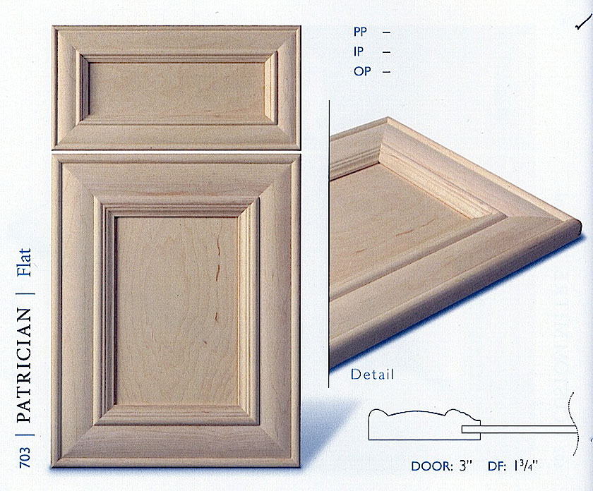 700 series cabinet door profiles
