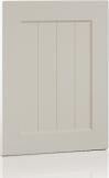 06 Lancaster, V grooved panel, White