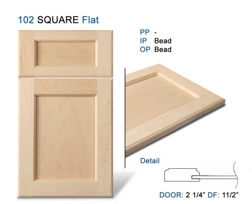 102 SQUARE Flat Doors