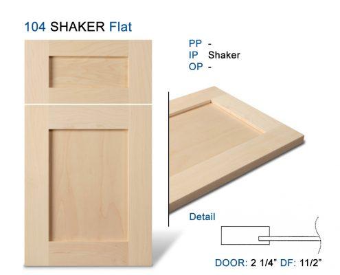 104 SHAKER Flat