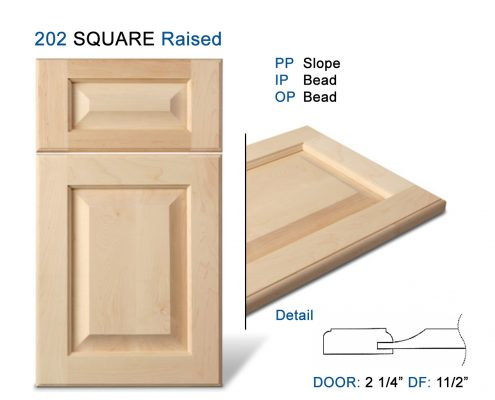 202 SQUARE Raised