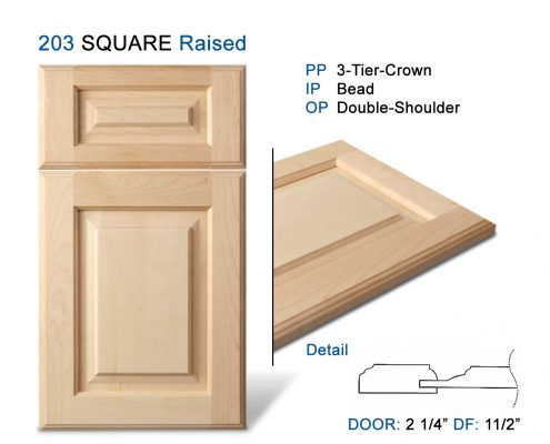 203 SQUARE Raised