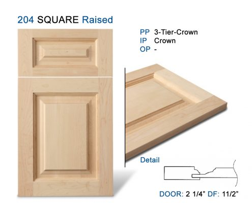 204 SQUARE Raised