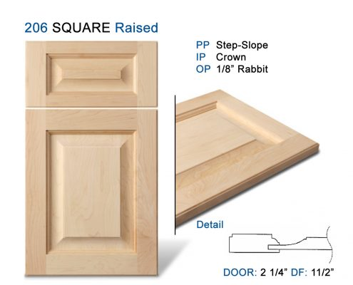 206 SQUARE Raised