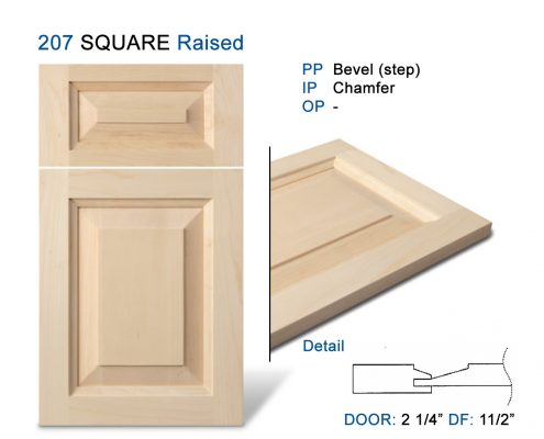 207 SQUARE Raised