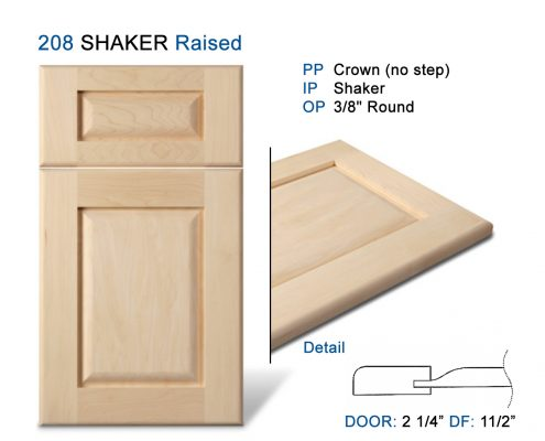 208 SHAKER Raised