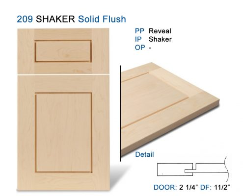 209 SHAKER Solid Flush