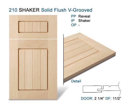 210 SHAKER Solid Flush V-Grooved