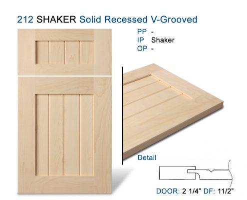 212 SHAKER Solid Recessed V-Grooved