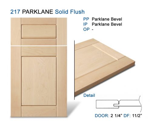 217 PARKLANE Solid Flush