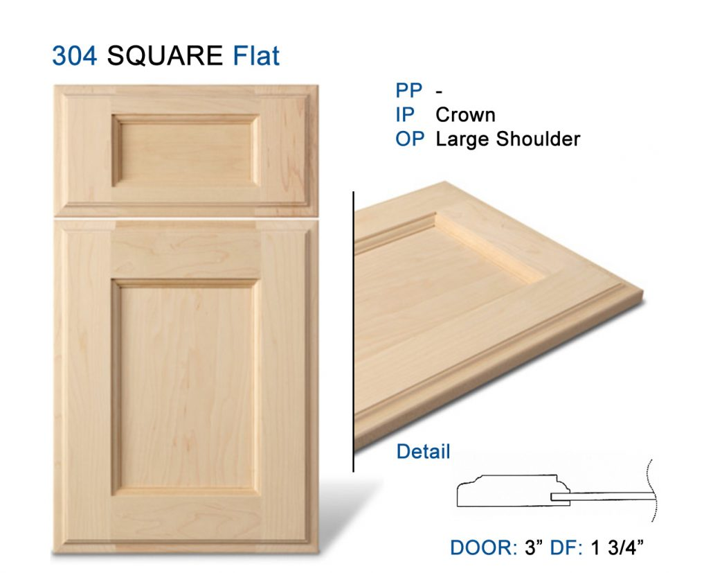 Square Cabinet Doors 3 Quot Frame Flat Panel