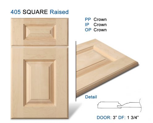 405 SQUARE Raised