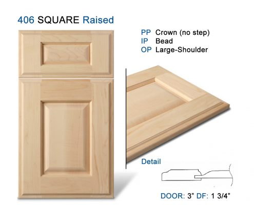 406 SQUARE Raised