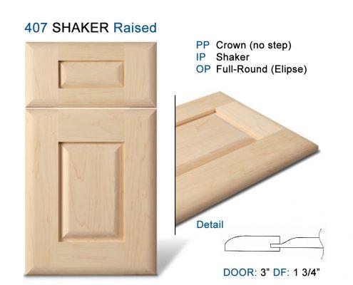 407 SHAKER Raised