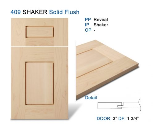 409 SHAKER Solid Flush