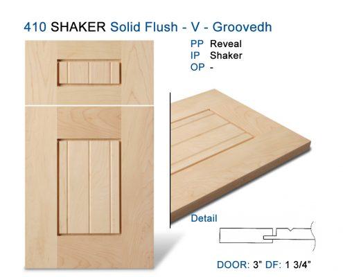 410 SHAKER Solid Flush - V - Groovedh