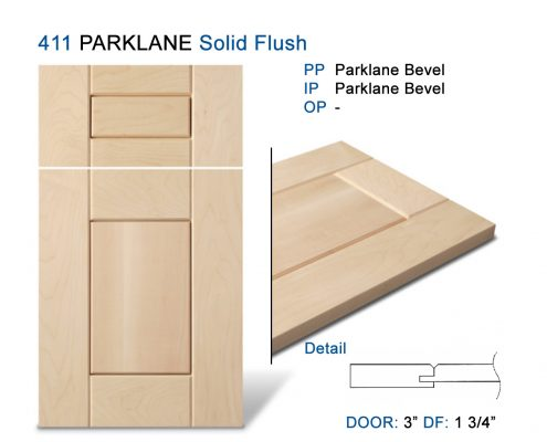 411 PARKLANE Solid Flush