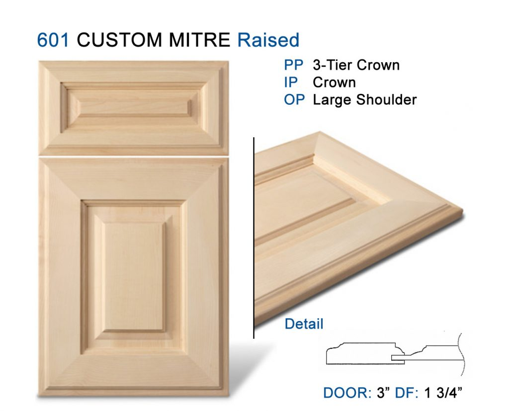 Mitre Cabinet Doors Custom Flat Moulding Solid Raised