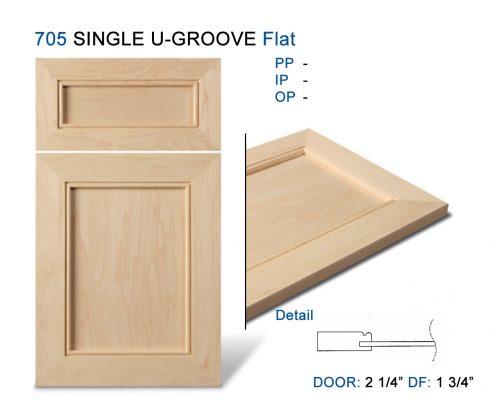 705 SINGLE U-GROOVE Flat