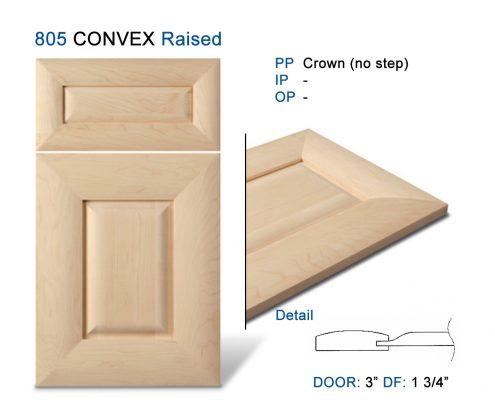 805 CONVEX Raised