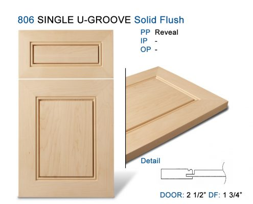 806 SINGLE U-GROOVE Solid Flush